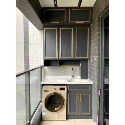 全铝阳台洗衣柜工厂定制批发销售