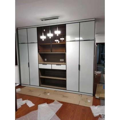 北京全铝整板家具定制 简约全铝高光板衣橱衣柜定制