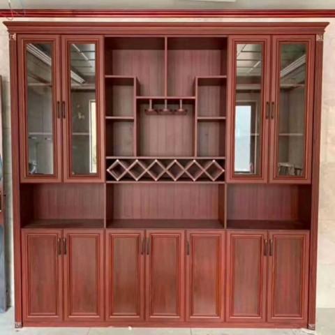 北京百家邦全铝整板酒柜 客厅酒柜 玄关柜 橱柜定制 全铝家居
