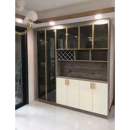 北京全铝整板家具定制 现代简约全铝玻璃门家具工厂定制