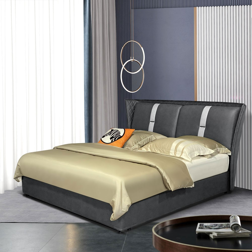 8083# 现代风格双人床