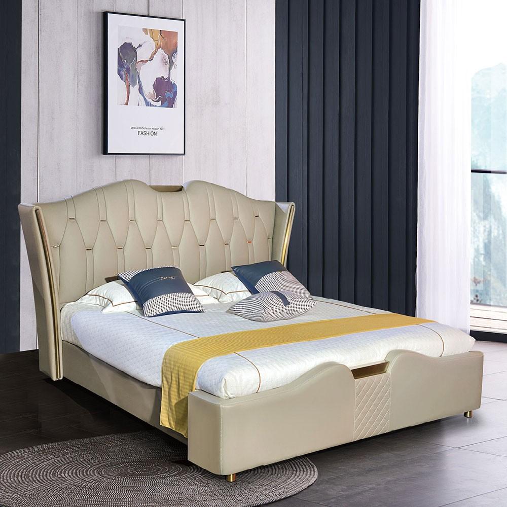 8085# 轻奢风格双人床